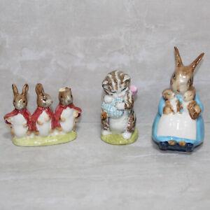 Lot-of-3-Beatrix-Potter-AS-IS-Figurines-1-crazed-2-have-broken-ears