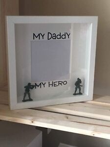 My Daddy Dad My Hero Picture Frame Fathers Day Gift Ebay