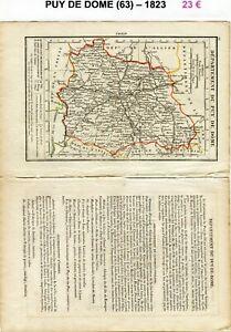Dépt 63 - Xix ème Siècle Belle Petite Carte Avec 2 Pages De Renseignements 1823