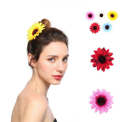 Boho Women/'s Girl Sun Flower Hair Clips Pin Hair Accessories Costume Beach Stage