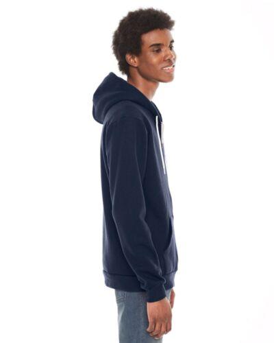 Zip Hoodie UNISEX Flex Fleece Hooded Sweatshirt XS-2XL F497 American Apparel