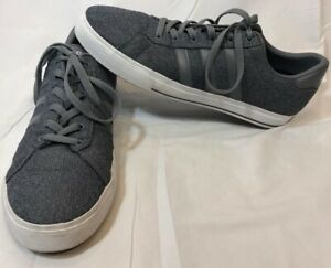 Adidas Neo Mens Sneakers Grey Striped Laces Comfort Footbed Size ...