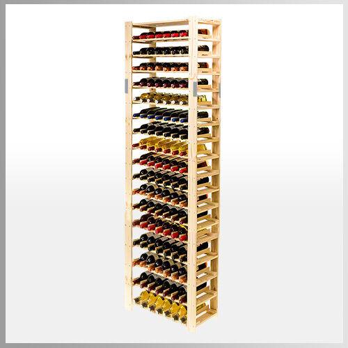 126  bouteilles en bois étagère étagère à vin bouteilles étagère à rw-5-4 3 Couleurs