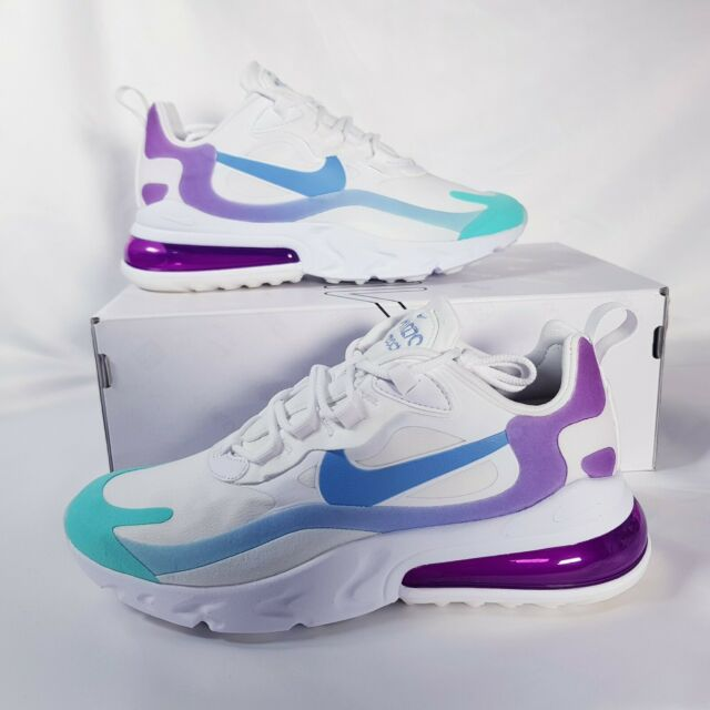 Nike Air Max 270 React Women S Shoe Size 8 White Light Blue At6174