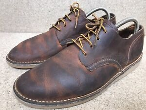 Red Wing 3303 Weekender Oxford Brown Leather Shoes Men's Size US 8 D | UK 7