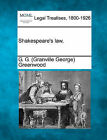 Shakespeare's Law. by G G Greenwood (Paperback / softback, 2010)