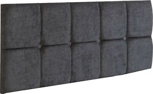 """Panel Headboard 24"""" Linen Fabric Panel Upholstered Bed - All Sizes & Colours"""
