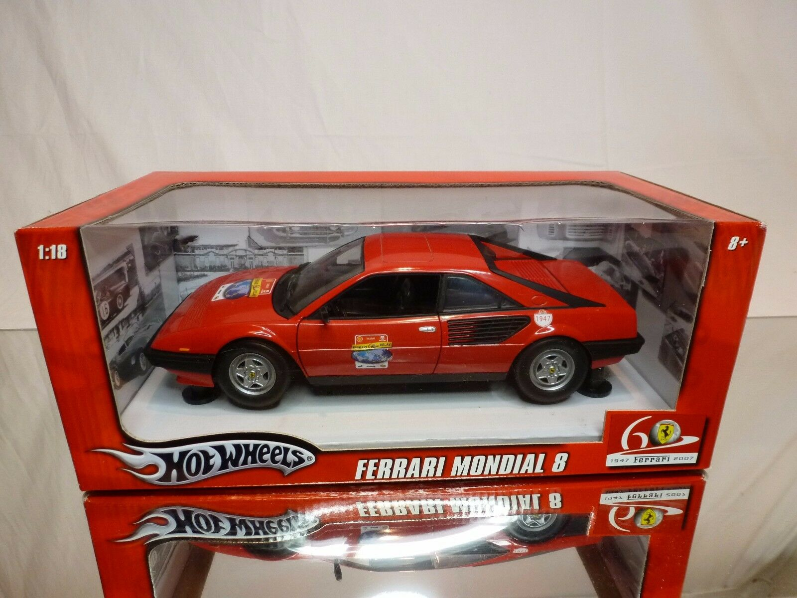 HOT WHEELS L7340 FERRARI MONDIAL 8 - 60 RELAY SHELL - Rojo  EXCELLENT IN BOX