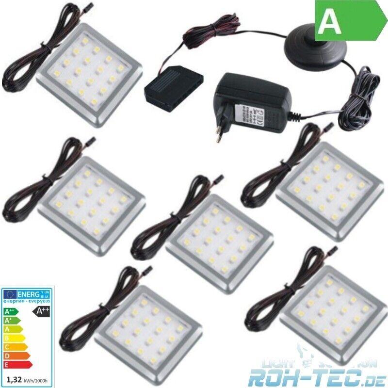 1-6 Led Aufbauleuchte Unterbauleuchte Unterschrank Küche Schrank Beleuchtungsset
