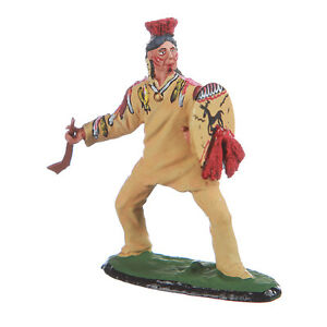 Tin-Toy-Soldier-Indian-Omaha-Warrior-metal-sculpture-54mm-hand-painted-5-34