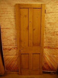 N00b-27-x-75-Old-Original-Victorian-Reclaimed-Pine-Door-No-Beading