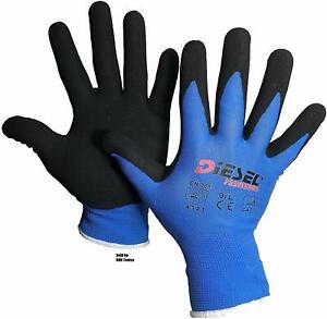 12-Pair-Diesel-Blue-Safety-Gloves-Latex-Coated-Grip-Cut-Resistant