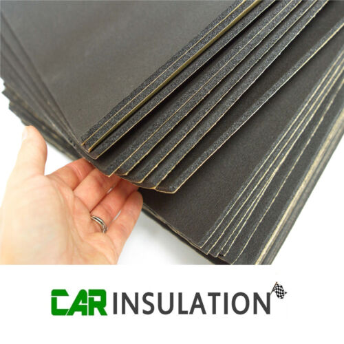 12 Sheets Car Van Sound Proofing Deadening 6mm Insulation Closed Cell Foam Value