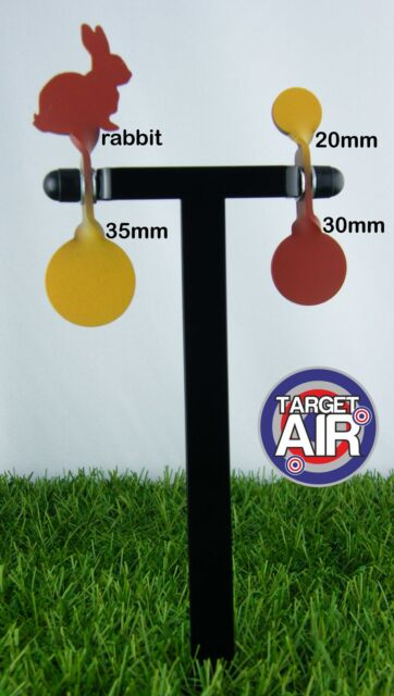 4 METAL TARGETS ON 2 DOUBLE STEEL SPINNERS AIR RIFLE SHOOTING PLINKING *PK02