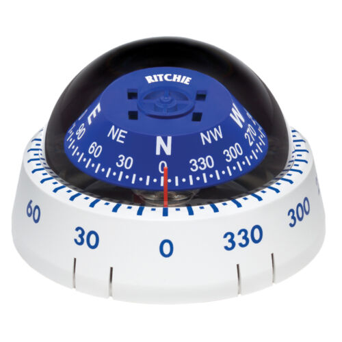 RITCHIE XP-99W KAYAKER SURFACE MOUNT COMPASS WHITE