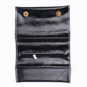 Cigarette Tobacco Pouch Bag Case Black PU Leather Rolling Paper Christmas Gift
