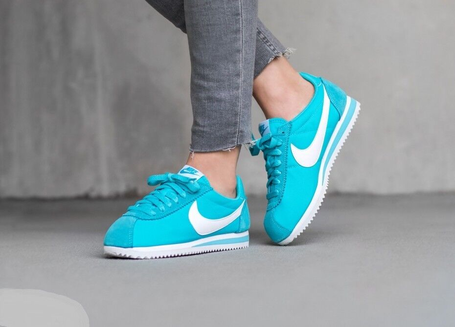 NIKE CLASSIC CORTEZ NYLON 749864 410 GAMMA BLUE/WHITE Wmn Sz 8 Seasonal price cuts, discount benefits