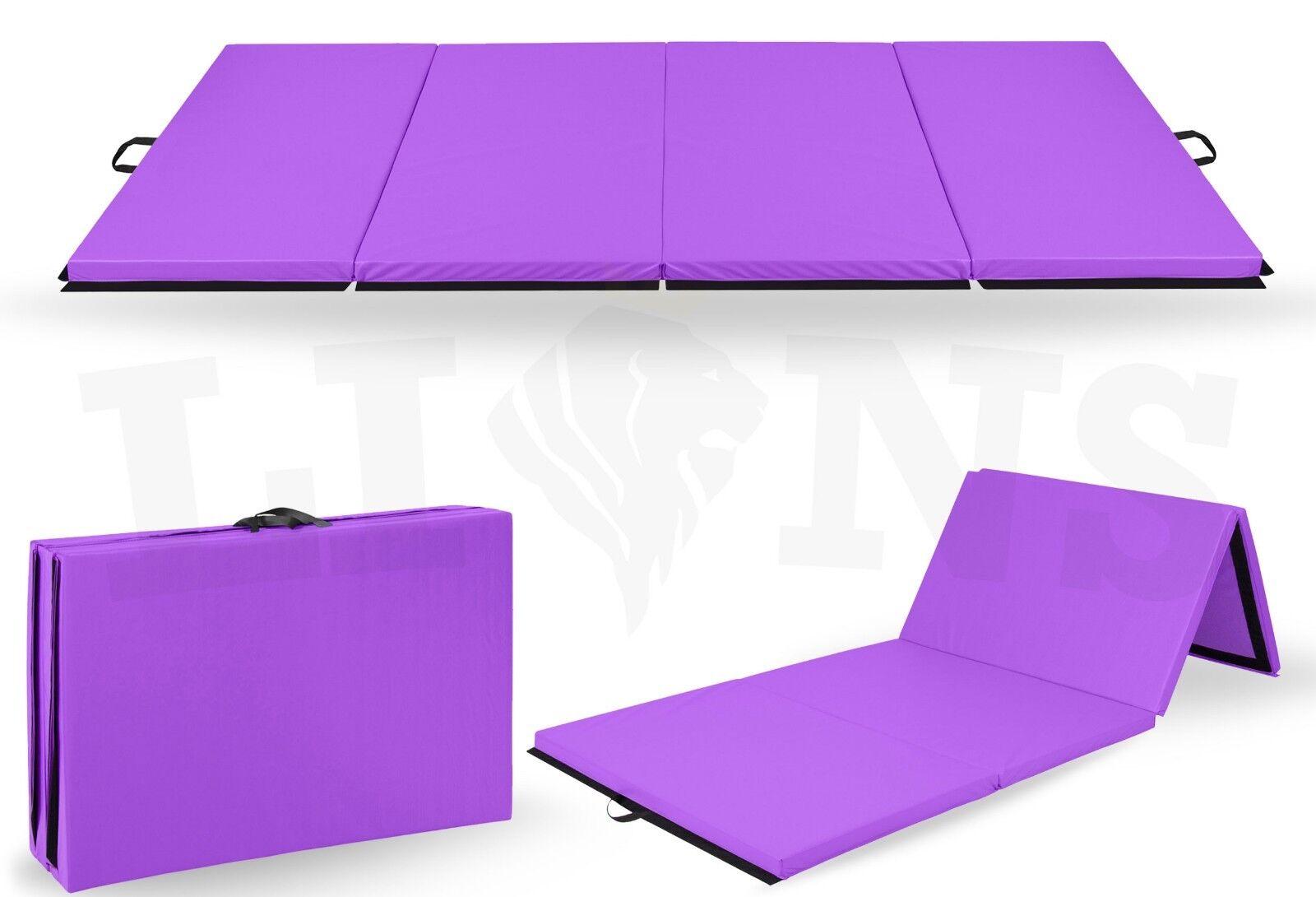Tri quatre pliable tapis 6 ft (environ 1.83 m) 8 FT (environ 2.44 m) Yoga Gymnastique Exercice Formation Crash Pilate Mat