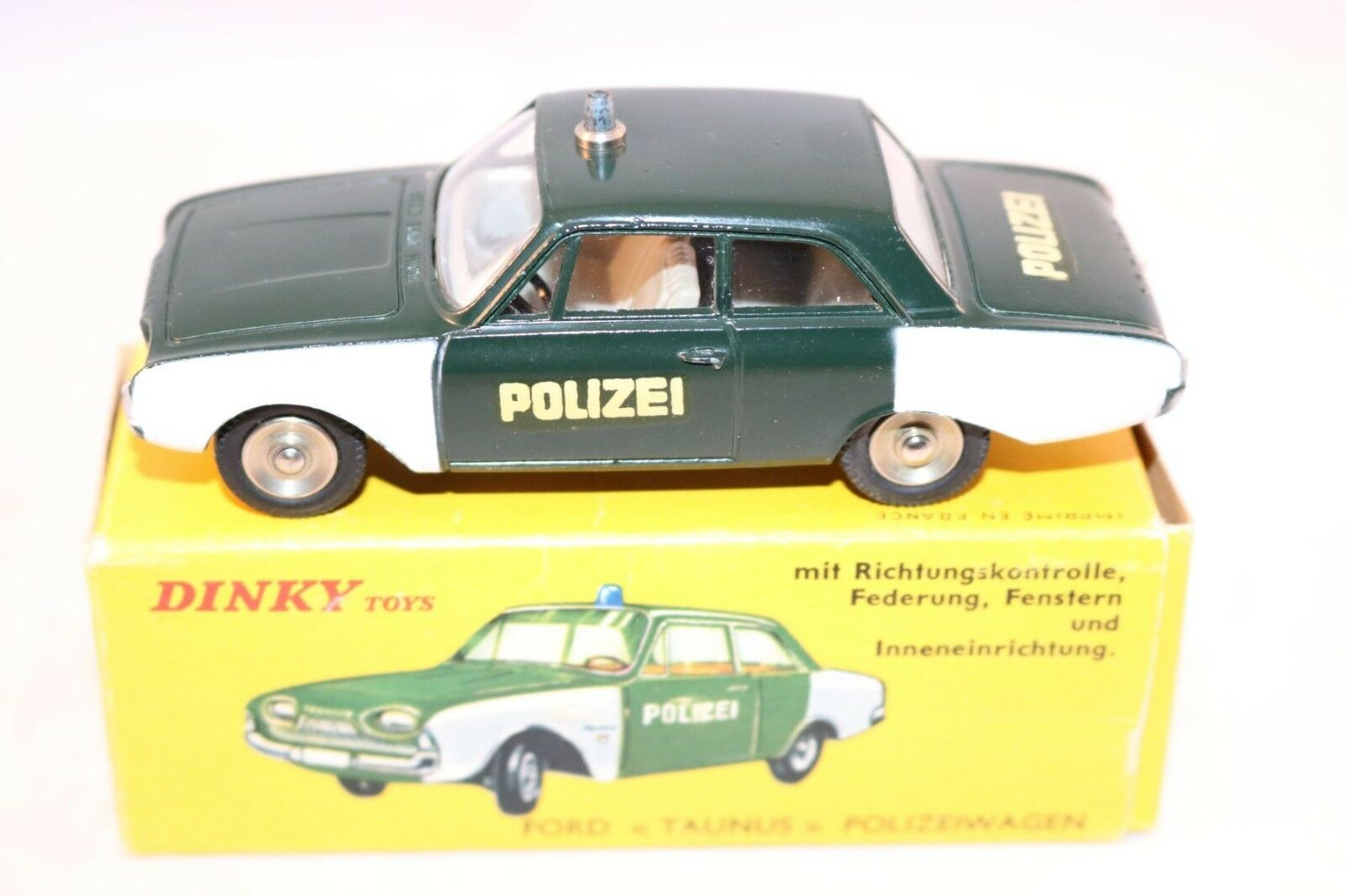 Dinky Toys 551 Ford Taunus  Polizeiwagen  in box super condition and super box
