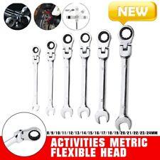 Activities Metric Flexible Head Ratcheting Wrench Adjustable Repair Tool 824mm
