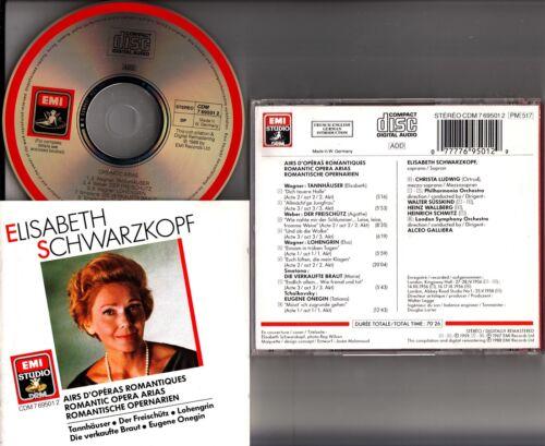 EMI-WG-Schwarzkopf-Romantische-Oper-Arias-CD-glitzerten-Lohengrin-Freischutz
