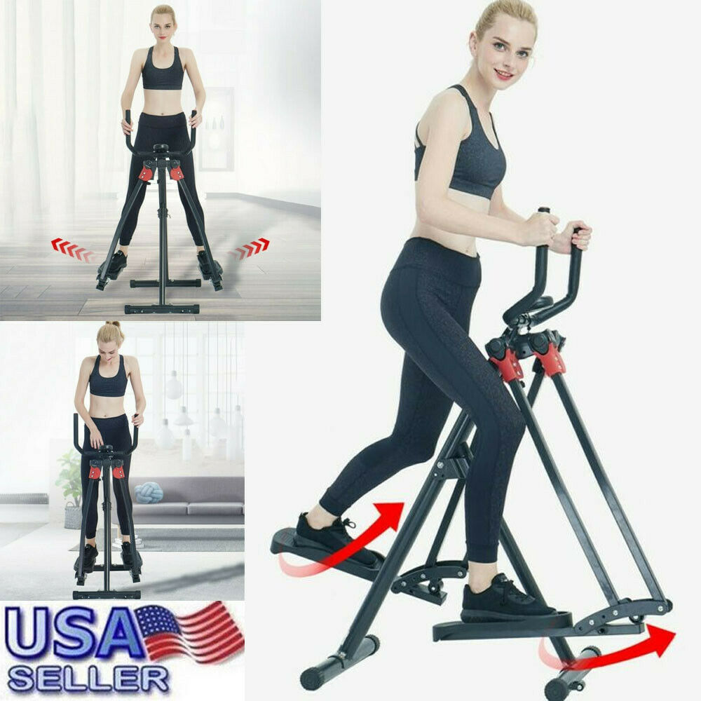 Folding Elliptical Air Walkers 360° Free Moved Exercise Mac