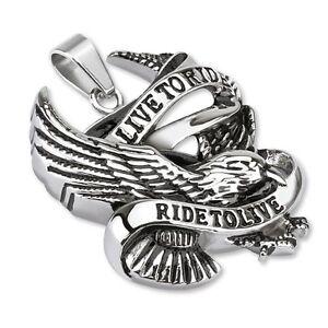 pendente-in-acciaio-316L-collana-biker-Live-per-Ride-ride-per-Live-Pendente