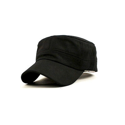 Fashion Hot Classic Army Plain Vintage Hat Cadet Military Patrol Cap Adjustable