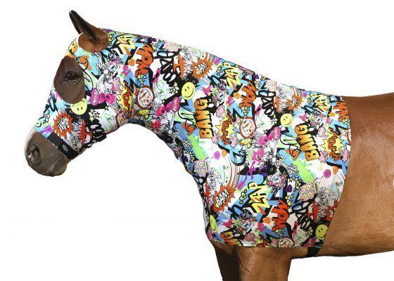 Sleazy Sleepwear Cosmic Camo Stars Horse Horse Horse Show Lycra Hood Full Zipper Belly Wrap 13b56d