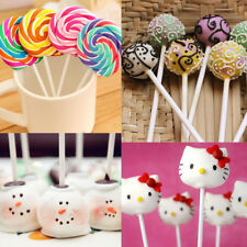80pcs Pop Food Sucker Sticks Chocolate Cake Lollipop Sweet Candy Making