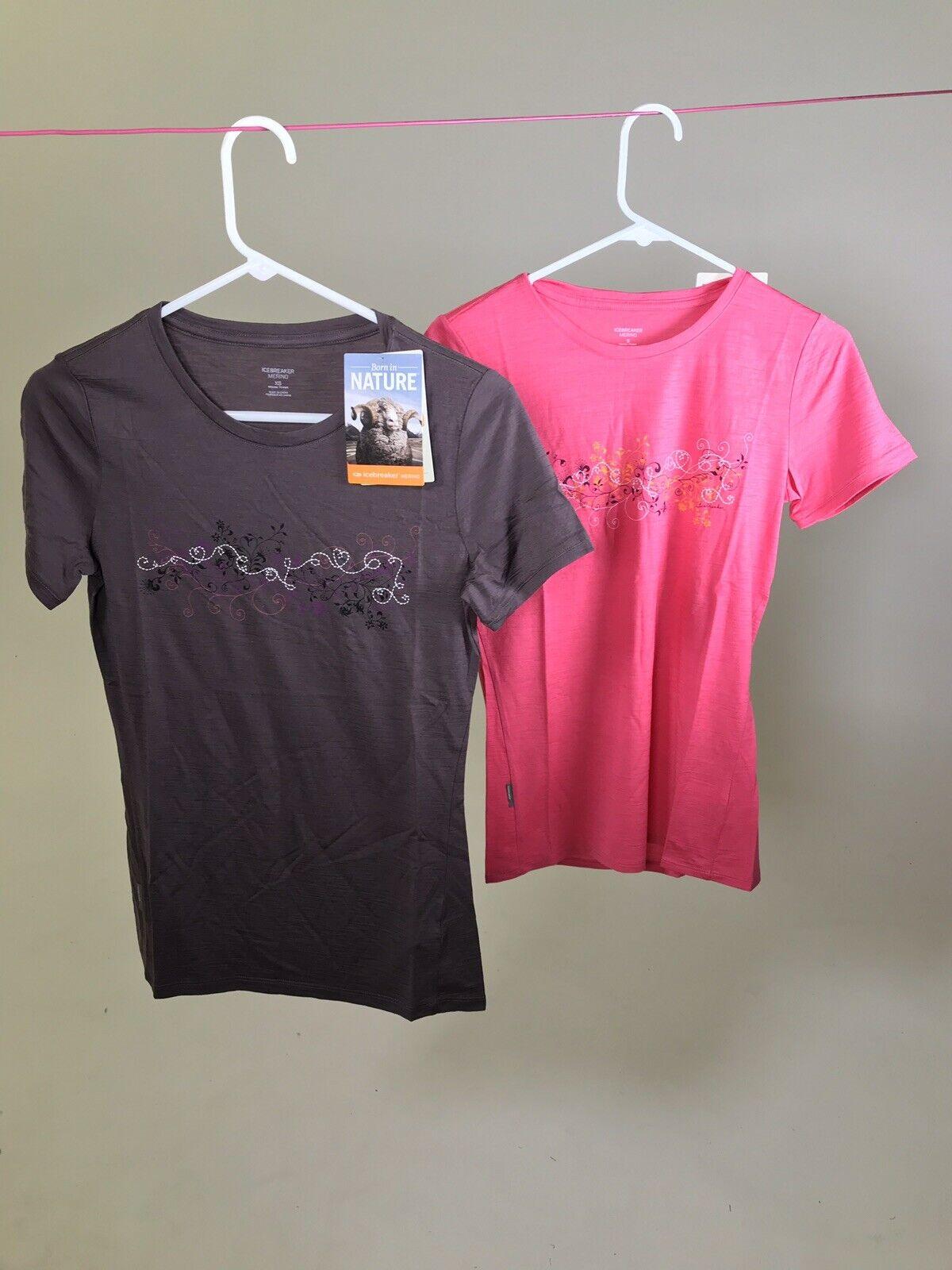ICEBREAKER 100% Merino Wool Tech Lite Graphic T-shirt XS S XL -- NWT