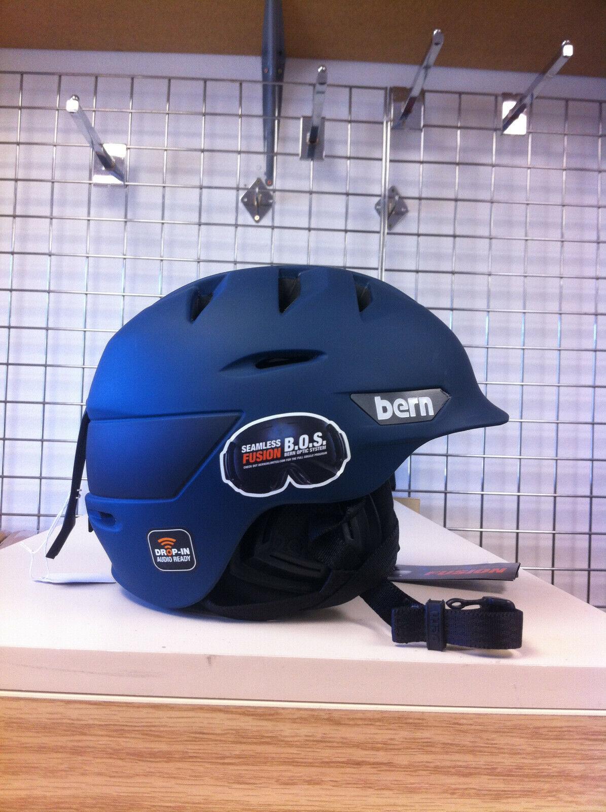 Men's Bern Rollins ski snowboard Helmet color Muted Teal (dark) size S M
