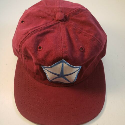 Chrysler vintage Strapback Hat Maroon Made In USA