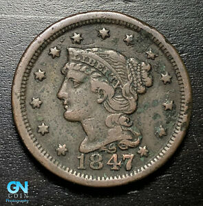 1847-Braided-Hair-Large-Cent-MAKE-US-AN-OFFER-B2790