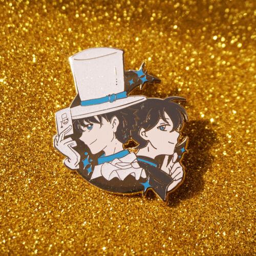 Rare Anime Detective Conan Kudou Shinichi Metal Badge Pin Brooch Fan Collection