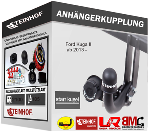 E-SATZ 13-polig Anhängerkupplung Starr AHK für Ford Kuga II ab 2013