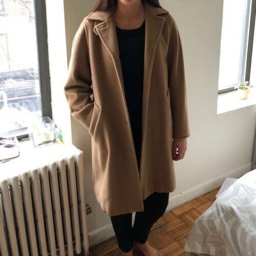 MaxMara Camel Wool Coat Classic 'S MaxMara Sz 6 Ex
