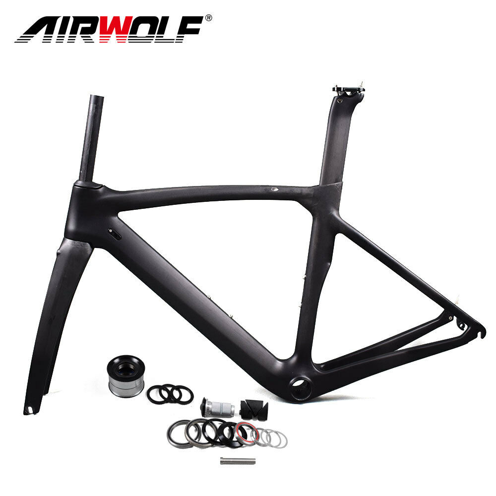 T1000 carbon road frame 55cm Glossy carbon bicycle direct brake racing frame