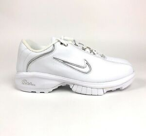 Nike-Air-CR1-White-Silver-Womens-Training-Shoes-Size-11-Retro-312077-111