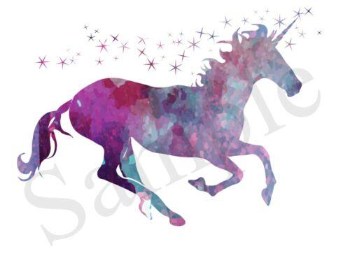 Unicorn Stile Grunge ferro su trasferimento A5