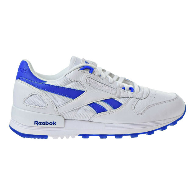 6da9921a509523 Reebok Classic Leather 2.0 Mens Soft Comfortable Sneakers White Vital Blue