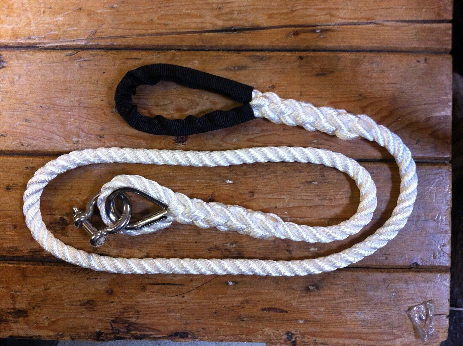 MOORING ROPE STROP-  3 STRAND NYLON CHOOSE DIAMETER and LENGTH