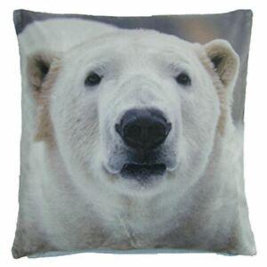 Mignon-Noel-Hiver-Neige-Polar-Bears-Bleu-Doux-Coussin-Velours-Housse-43-2cm