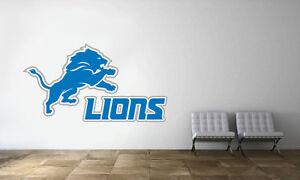 d8c2c351 Details about Detroit Lions Logo Wall Decal NFL Football Decor Sport Art  Mural Vinyl Sticker