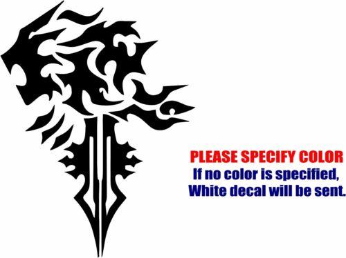 "Final Fantasy Lionheart Decal Sticker JDM Funny Vinyl Car Window Bumper Truck 7/"""