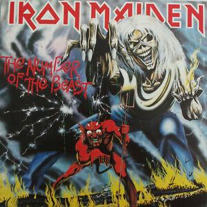 Iron Maiden THE NUMBER OF THE BEAST Australian ORIGINAL 1st Pressing RARE LP