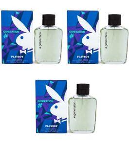 Playboy Generation 3pz Toilette Homme Eau 100 Pour Edt De Parfum Him DY9I2EWH
