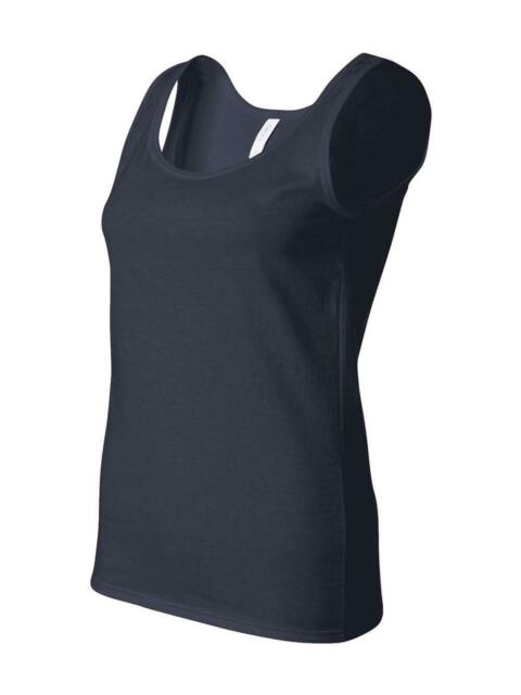 fcd1a9de Gildan Ladies 4.5 Oz. Softstyle Junior Fit Tank Top G642l Navy 2xl ...