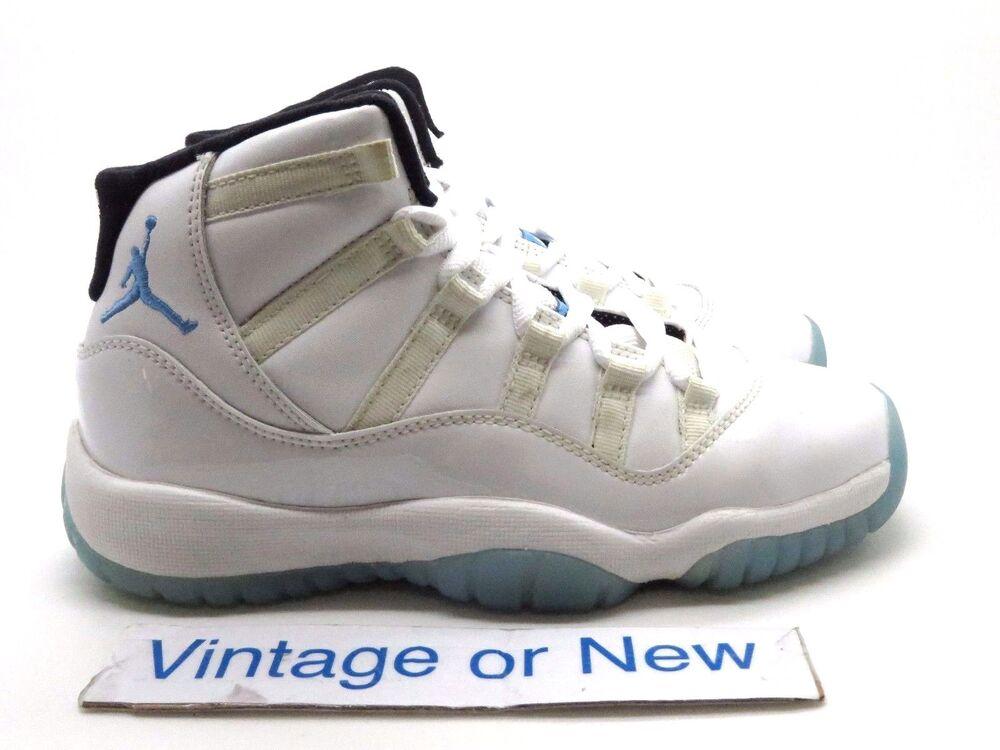 Nike Air Jordan XI 11 Legend Bleu Columbia Retro BG 2014 Homme  Chaussures de sport pour hommes et femmes