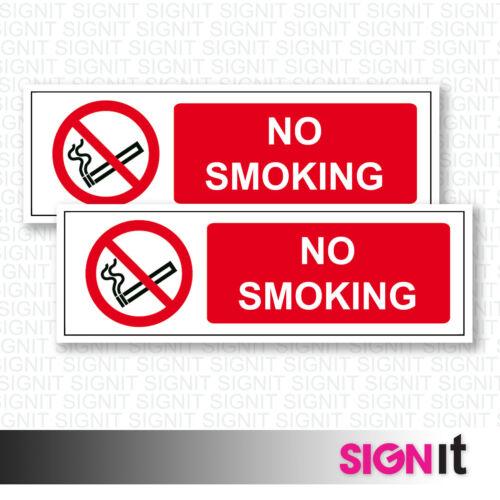 No Smoking Sign Vinyl Sticker 50mm x 150mm No Smoking